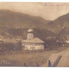 4748 - CAINENI, Valcea, Church - old postcard, CENSOR, real PHOTO - used - 1917