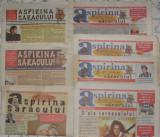 ziar,revista Aspirina saracului,7 numere,10 lei/buc,editat de Mircea Dinescu