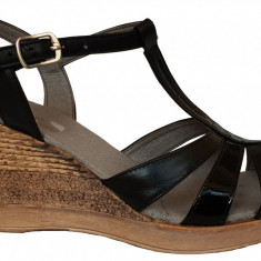 Sandale dama cu talpa ortopedica Ninna Art 134 negru