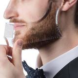 Pieptene Contur Barba & Mustata/ Sablon pt Barba & Mustata transparent
