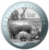 Zambia 1000 Kwacha 2014 UNC Hipopotan 40mm argintiu