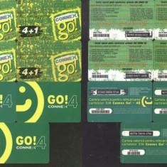 Romania - CONNEX GO4 x 7 Telephone card Charging units VODAFONE CT.016
