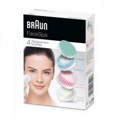 Rezerve Braun Face SE80MV Cap de revitalizare a pielii Perie pentru piele foarte sensibilă Burete de înfrumusețare Perie de exfoliere