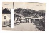 CP Miercurea Ciuc - Vama de la Ghimes, 1918, animata, circulata, excelenta, Fotografie
