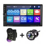 "Cumpara ieftin MP5 Player Auto Universal 7018B, WinCE, Camera Marsarier, Ecran HD Touch 7"", Comenzi Volan, Telecomanda, MirrorLink, Bluetooth"