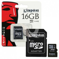 Carduri de memorie, kingston micro sd, 16gb, class 4
