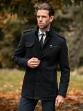 Palton de iarnă bărbați negru Bolf 8856B