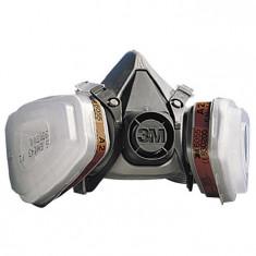 Masca protectie respiratorie-set complet: filtreA2,prefiltreFFP2,capace+ochelari