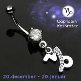 Cumpara ieftin Piercing pentru buric cu zodii - Capricorn