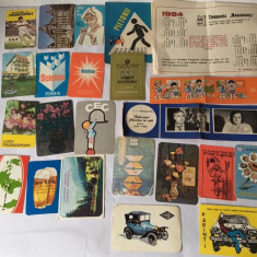 Lot 23 calendare de buzunar anul 1984, colectie, vintage