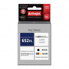 Kit cartuse compatibile HP 652 XL, black, tricolor, Activejet