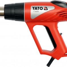 Suflanta aer cald 2000 W cu termostat digital si accesorii YATO