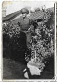 Fotografie militar roman cu baioneta poza veche romaneasca interbelica