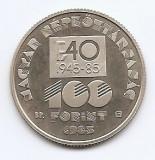 Ungaria 100 Forint 1985 (FAO) 32 mm, Proof, KM-654 UNC !!!, Europa, Nichel