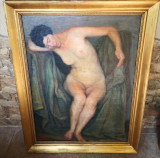 Cumpara ieftin Tablou autentic scoala Baia Mare, Nud, Ulei, Impresionism