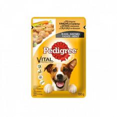 Pedigree hrană umedă câini cu Pui/Legume în sos 4x100 gr, Umeda
