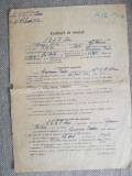 1953, Contract Muncă Șef gară COTNARI, CFR Iași, mai multe semnături olografe