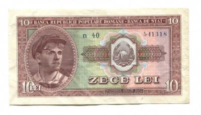Romania 10 lei 1952 VF foto