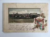 Carte postala veche vedere Germania, Gunzburg A./D., in relief, final de 1890