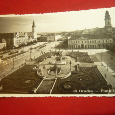 Ilustrata -Oradea - Piata Unirii 1936 Foto-Film Cluj