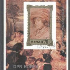 Korea 1981 Paintings, Rubens, imperf. sheet, used T.290
