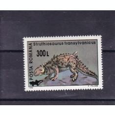 ROMANIA  2001  LP 1559  ANIMALE PREISTORICE  94  SUPRATIPAR  REPTILE  MNH