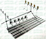 Cumpara ieftin Kit Complet pescuit crap,5 lansete 3m,mulinete,rod pod,senzori,swingeri