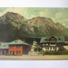 Busteni-Gara,carte postala circulata 1911, Printata