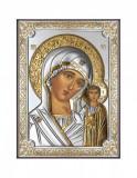 Icoana Maica Domnului Kazan 8X11cm Argintiu/Auriu Cod Produs 2528