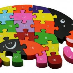 Puzzle Familie Elefanti lemn
