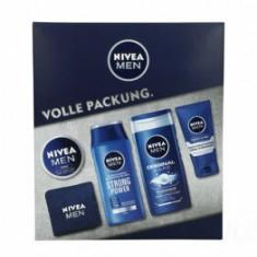 Set cadou Nivea Men pentru barbati (Gel de dus 250ml + Sampon Strong Power 250ml + Crema hidratanta 150ml + Crema Protect & Care 75ml + Prosop)