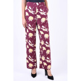 Pantaloni Florali Vero Moda Autumn Amaze Port Royale