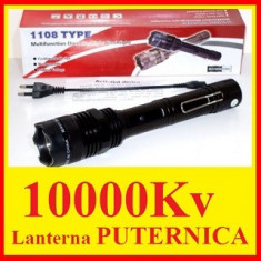 Lanterna Cu Electrosoc Pentru Autoaparare, Cu lanterna