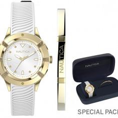 Ceas Dama NAUTICA CAPRI (watch + fashion jewel bracelet, gift set) NAPCPR007