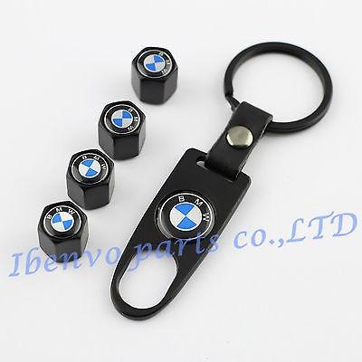 capacele ventil BMW+breloc auto,negru mat foto