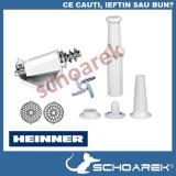 Piese Accesorii masina de tocat Heinner , MT-1500 TA, MG-2100 , rosii, carnati