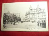 Ilustrata Bucuresti - Piata Carol I - Str. Victoriei Ed. Depozitul Saraga Schwar