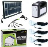 Cumpara ieftin Panou solar fotovoltaic 3 becuri lanterna incarcare telefon 2 lampi GD7