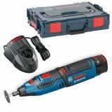 Bosch GRO 12V-35 Multifunctional rotativ cu acumulator, 12V + 2 x Acumulatori GBA 12V 2.0Ah + Incarcator rapid GAL 1230 CV + L-Boxx