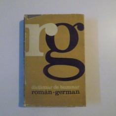 DICTIONAR DE BUZUNAR , ROMAN - GERMAN , EDITIA A - II - A de MIHAIL ISBASESCU , 1967