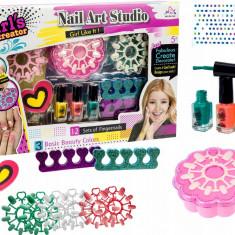 Set nail art pentru fetite, lac de unghii si accesorii manichiura