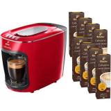 Cumpara ieftin Pachet Espressor Tchibo Cafissimo mini Salsa Red + 80 capsule Caffe Crema