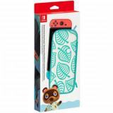 Carcasa si folie de protectie NINTENDO Switch Animal Crossing: New Horizons Aloha Edition, multicolor