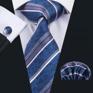 Set cravata matase butoni batista model D +cutie cadou