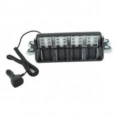Lampa LED PREMIUM stroboscopica pentru parbriz ROSU - ALBASTRU AL-011119-10