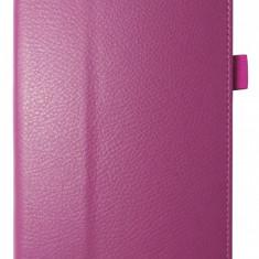Husa tip carte roz trandafiriu cu stand pentru Samsung Galaxy Tab 3 P3200 (SM-T211) / P3210 (SM-T210)