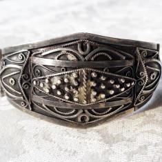 BRATARA argint TRIBALA marcaje VECHI manopera EXCEPTIONALA de efect SPLENDIDA