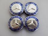 Capace jante aliaj Mercedes diametru 75mm set 4 buc A 171 400 00 25 albastre