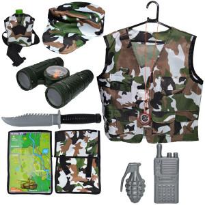 Costum pentru copii cu accesorii pentru soldat 9 piese