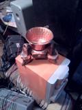 Ceaun din Alama ciocanita pe suport de Lemn